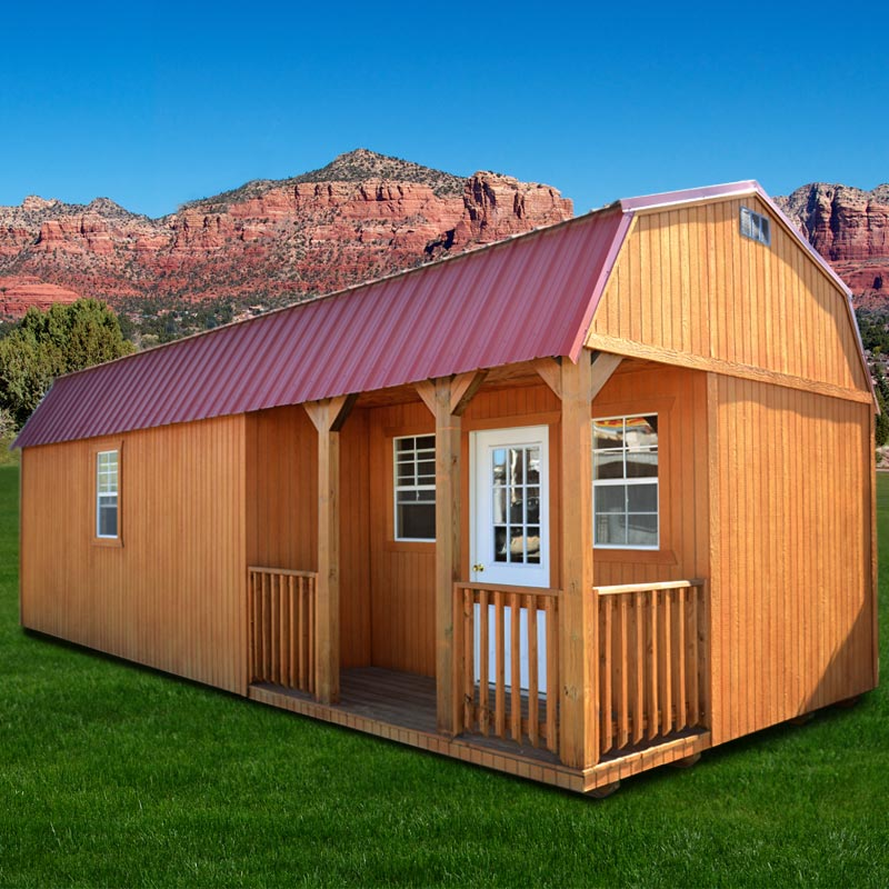 Weather King Portable Buildings : Deluxe side lofted barn cabin plans joy studio design